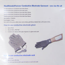 Load image into Gallery viewer, Package Directions for Healthmate Forever Silver Conductive Gloves and Socks