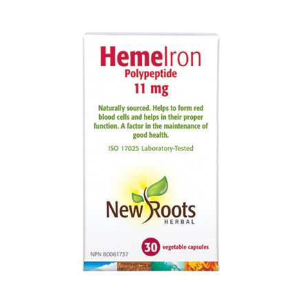 New Roots Herbal Heme Iron, boxed