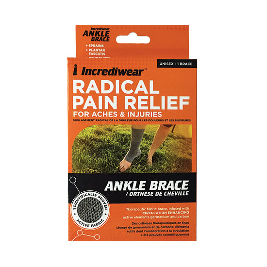 Packaging for Incrediwear Ankle Brace