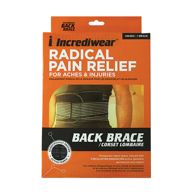 Package for Incrediwear Back Brace
