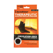 Crew Length Incrediwear Circulation Plus Sock, in Black