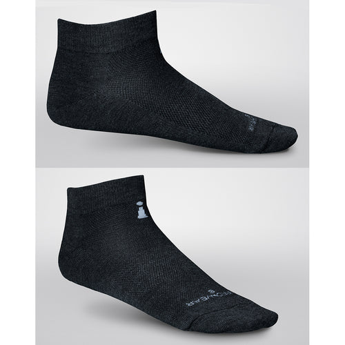Low Cut Incrediwear RUN sock, shown from both sides