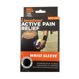 Package for Black Incrediwear Wrist Brace