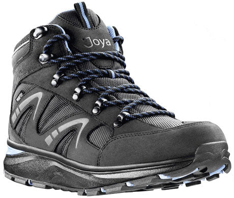 Joya Interlaken PTX High-Top Shoe in Greyish Black with Blue Trim