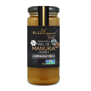 Wedderspoon Gold Raw Organic Manuka Honey, KFactor 16