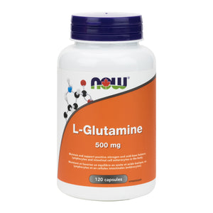 NOW L-Glutamine, 120 Capsules