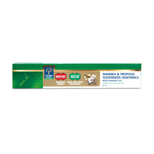 Manuka Health Manuka and Propolis Toothpaste package