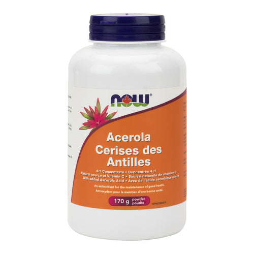 bottle of NOW Acerola powder