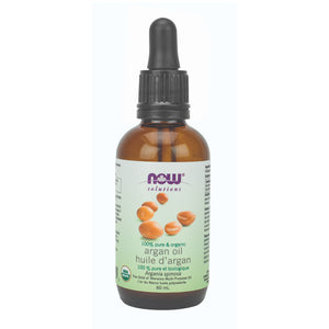 Dropper bottle of NOW 100% Pure & Organic Argan Oil