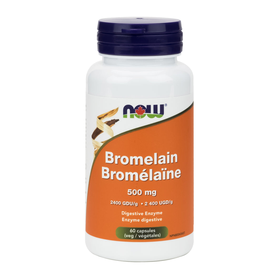 60 capsule bottle of NOW 500 mg Bromelain