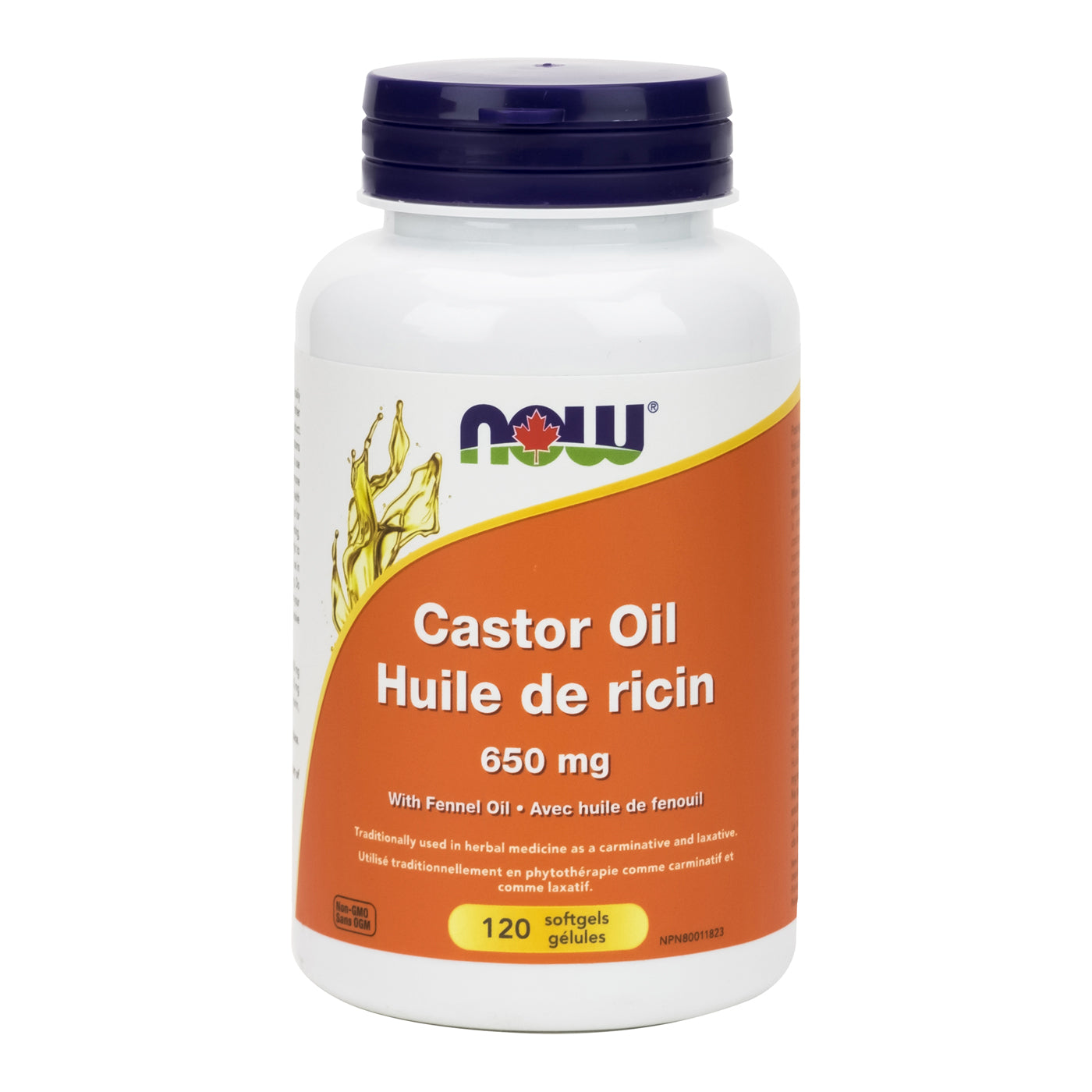 NOW - Castor Oil with Fennel Oil (Softgels)