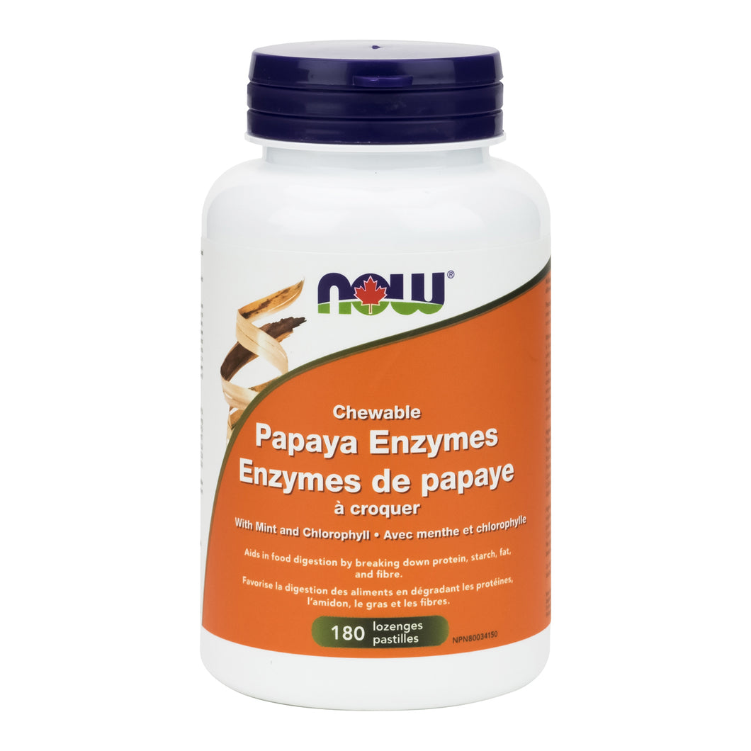 NOW Chewable Papaya Enzymes