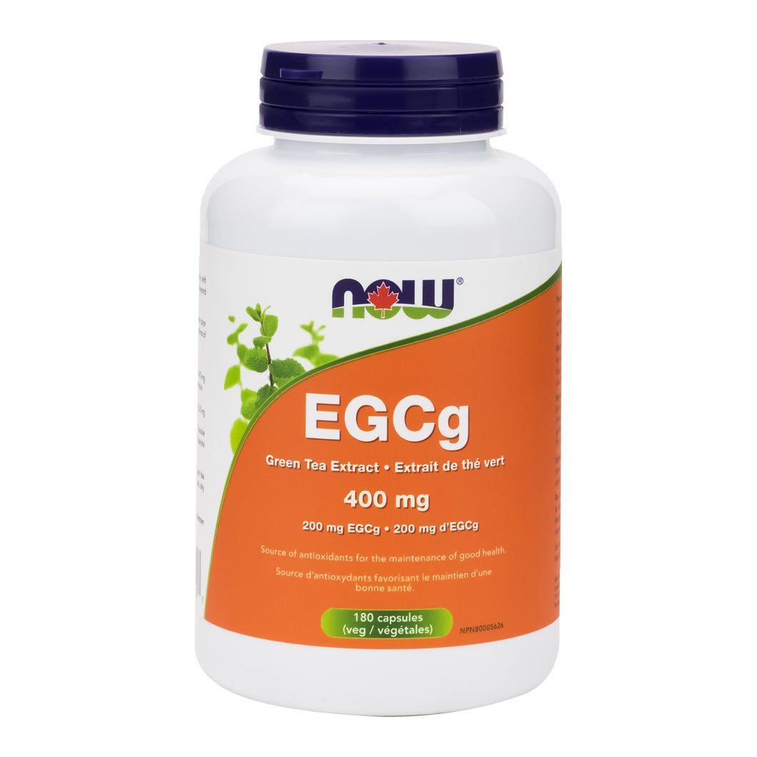 bottle of 180 Veg. Capsules of NOW EGCg