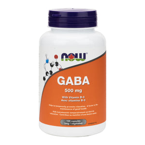 NOW GABA 500mg with vitamin B-6 (100 Capsules)