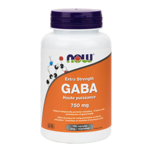 NOW Extra Strength GABA 750mg (100 Vcaps)