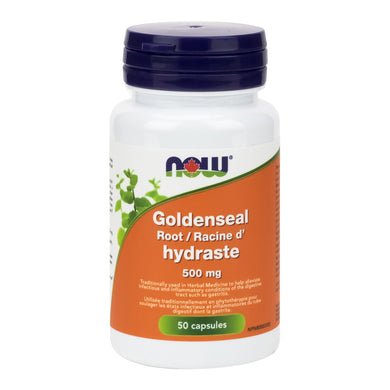 bottle of NOW Goldenseal Root Capsules