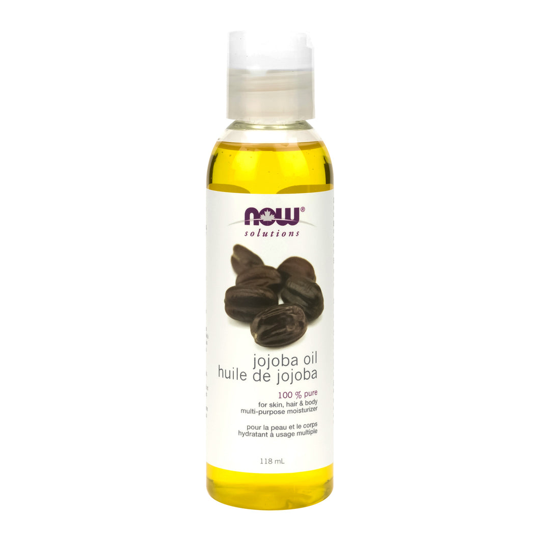 118ml Bottle of NOW 100% Pure Jojoba Oil