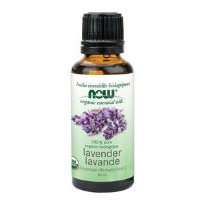 30 ml bottle of NOW Organic Lavender Oil