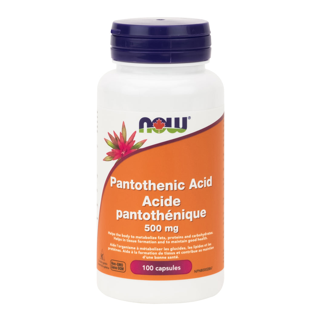 NOW Pantothenic Acid, 100 Capsules