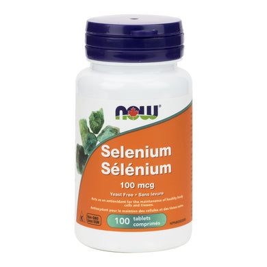 NOW 100mcg Strength Selenium, 100 Tablets