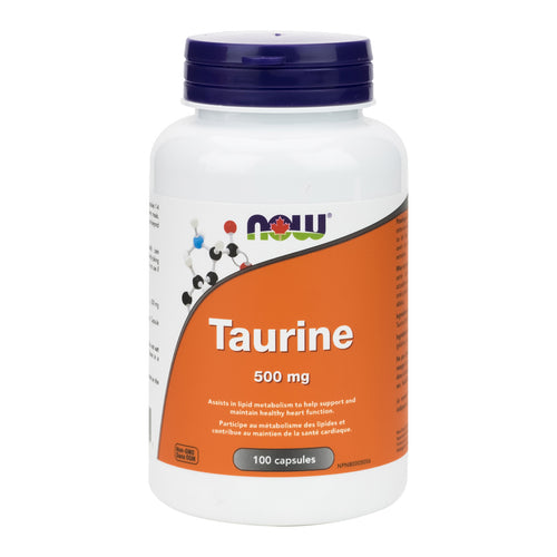 227 g bottle of NOW Pure Taurine powder, in new label