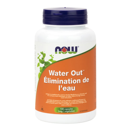 bottle of NOW Water Out capsules
