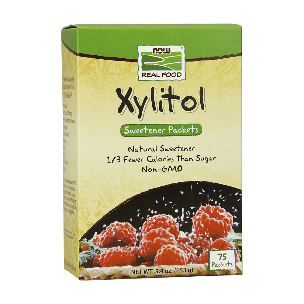 Box of NOW Pure Xylitol packets