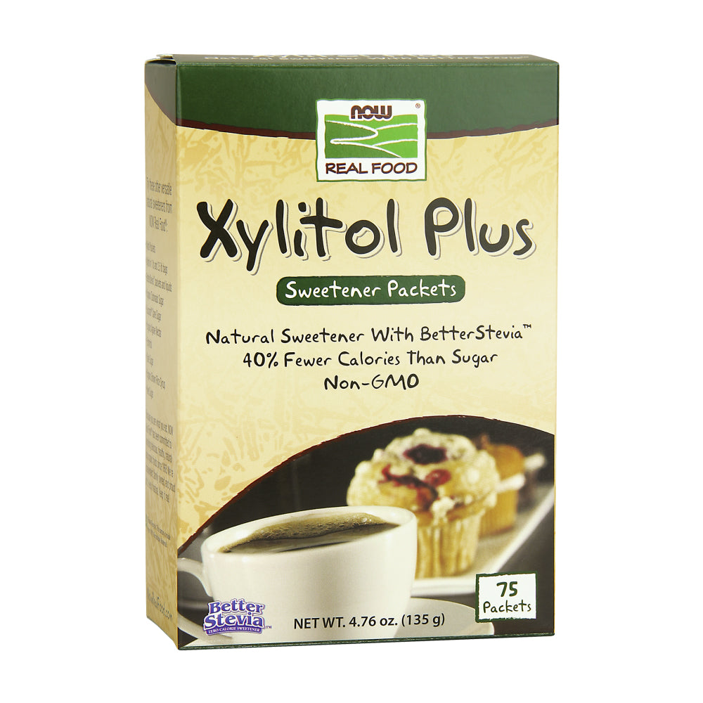 Box of NOW Xylitol Plus packets