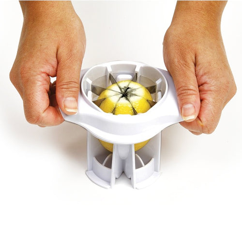 Norpro Lemon/Lime Slicer in use
