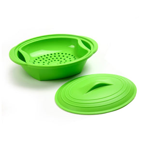 Norpro Silicone Steamer with Insert inserted