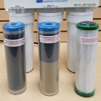 Several types of OPUS water filters
