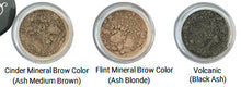 Load image into Gallery viewer, Three more shades of Pure Anada Mineral Brow Colors, labeled