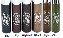Labeled bottoms of the 6 shades of Pure Anada Liquid Eye Liner