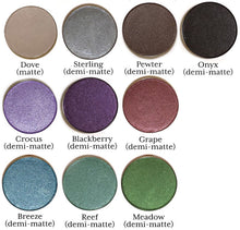 additional pans of Pure Anada Pressed Mineral Eye Colors, labeled