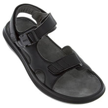 Load image into Gallery viewer, kybun Pado sandal in Black, from front and outer side