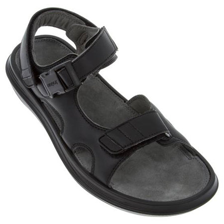 kybun Pado sandal in Black, from front and outer side