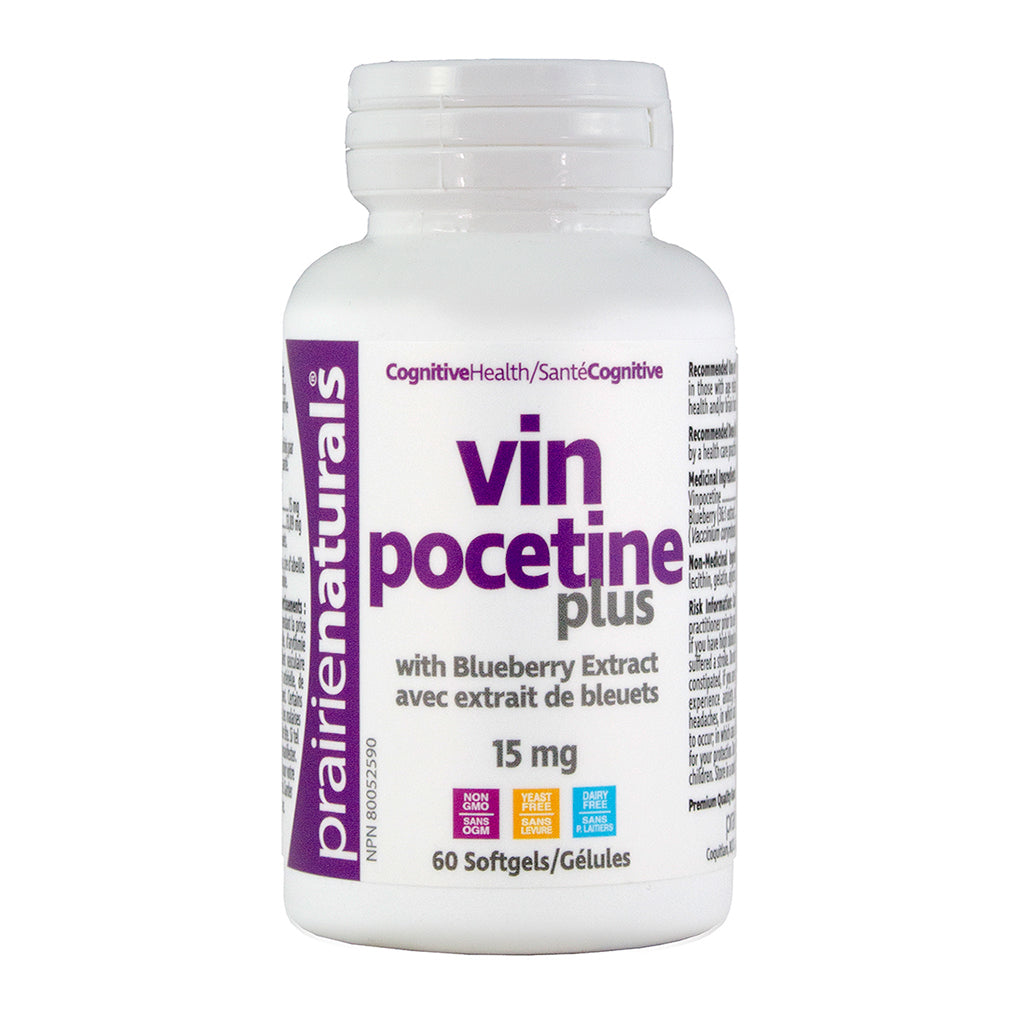 Prairie Naturals - Vinpocetine Plus (with Blueberry Extract)
