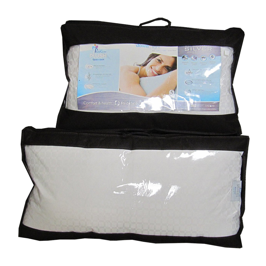 a Queen and King Sized PureCare Plush Down Light Pillow