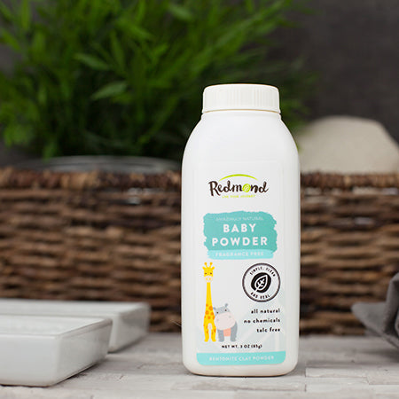 Redmond Clay Fragrance Free Baby Powder