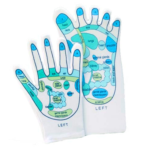 Left-handed Reflexology Glove and Sock