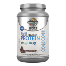 Garden of Life SPORT Organic Plant-Based Protein, Chocolate flavour (US label)