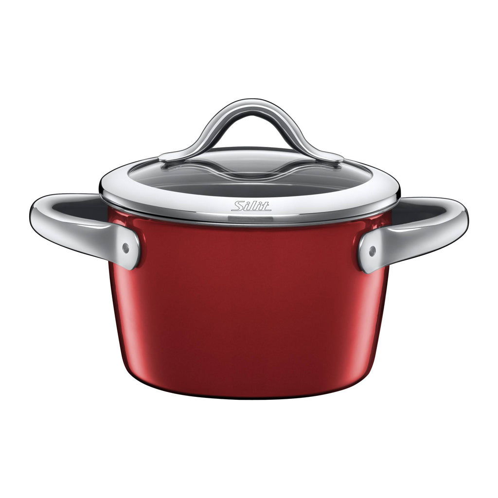 Silit 16cm Diameter Vitaliano High Casserole Pot, Rosso