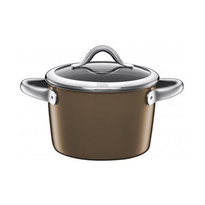 Silit 22cm Diameter Vitaliano High Casserole Pot, Marrone