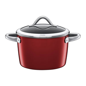 Silit 22cm Diameter Vitaliano High Casserole Pot, Rosso