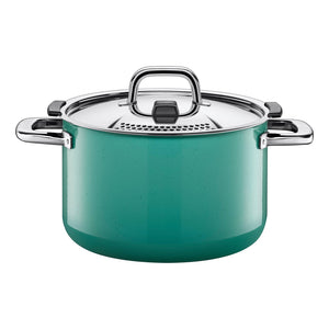 Silit Nature Colours 24cm High Casserole, Green