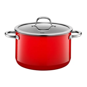 Silit 24cm Diameter Passion High Casserole Pot, Energy Red