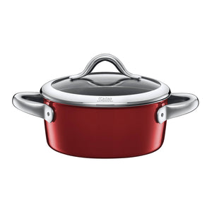 Silit 18cm Diameter Vitaliano Low Casserole Pot, Rosso