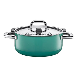 Silit Nature Colours 24cm Low Casserole, Green