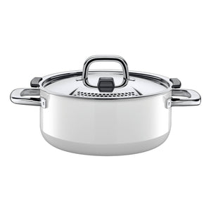 Silit Nature Colours 24cm Low Casserole, White