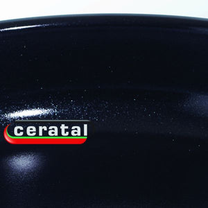 Close-up of enamelled surface of Fissler Crispy Ceramic Classic Pan
